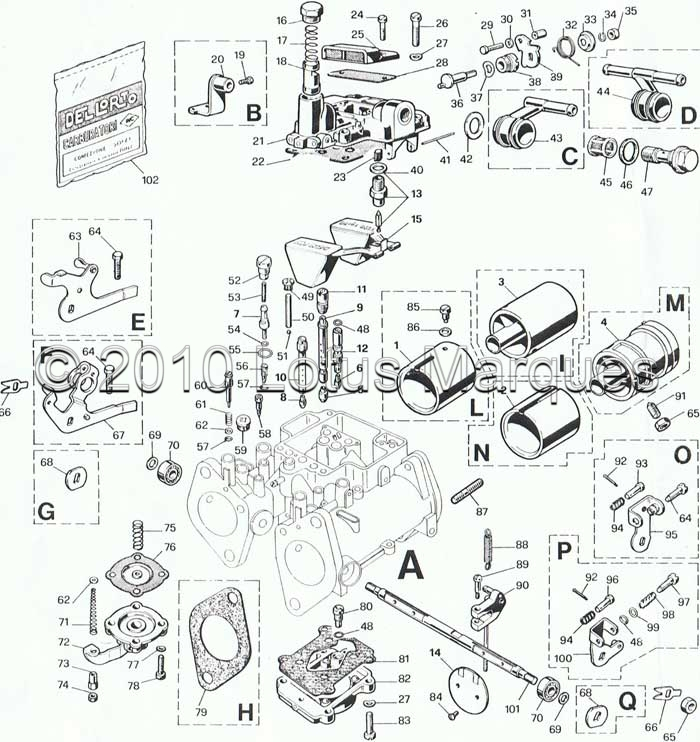 Dellorto carburettor catalogue
