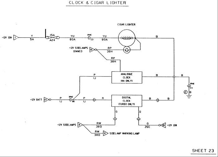lotus elan m100 wiring diagram for clock and cigar lighter