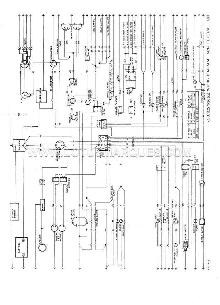 lotus elan+2 s130 wiring diagram, dom, alternator, Wiring diagram