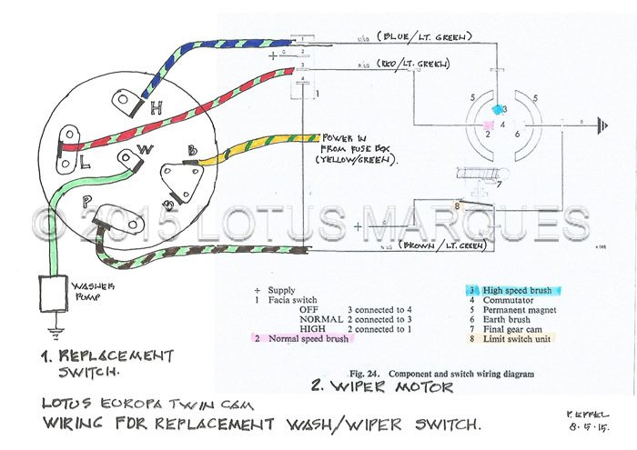 Lotus Europa TC wash   wiper       switch       wiring       diagram