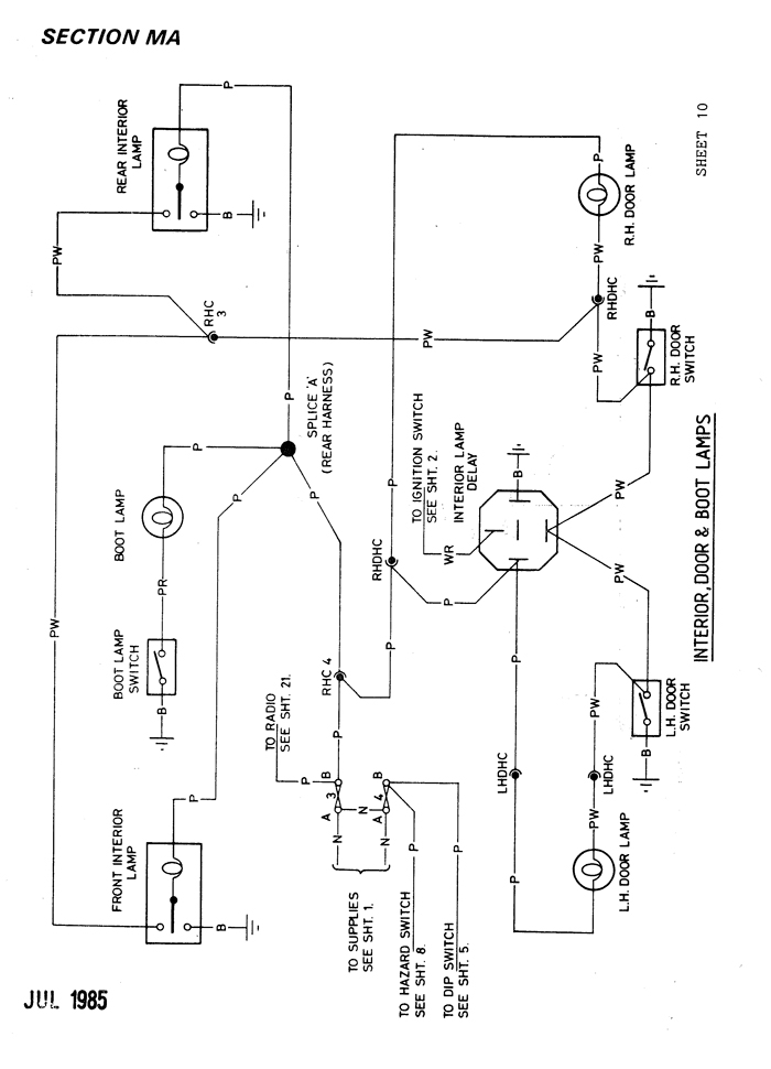 lotus excel electrical section, ma, Wiring diagram