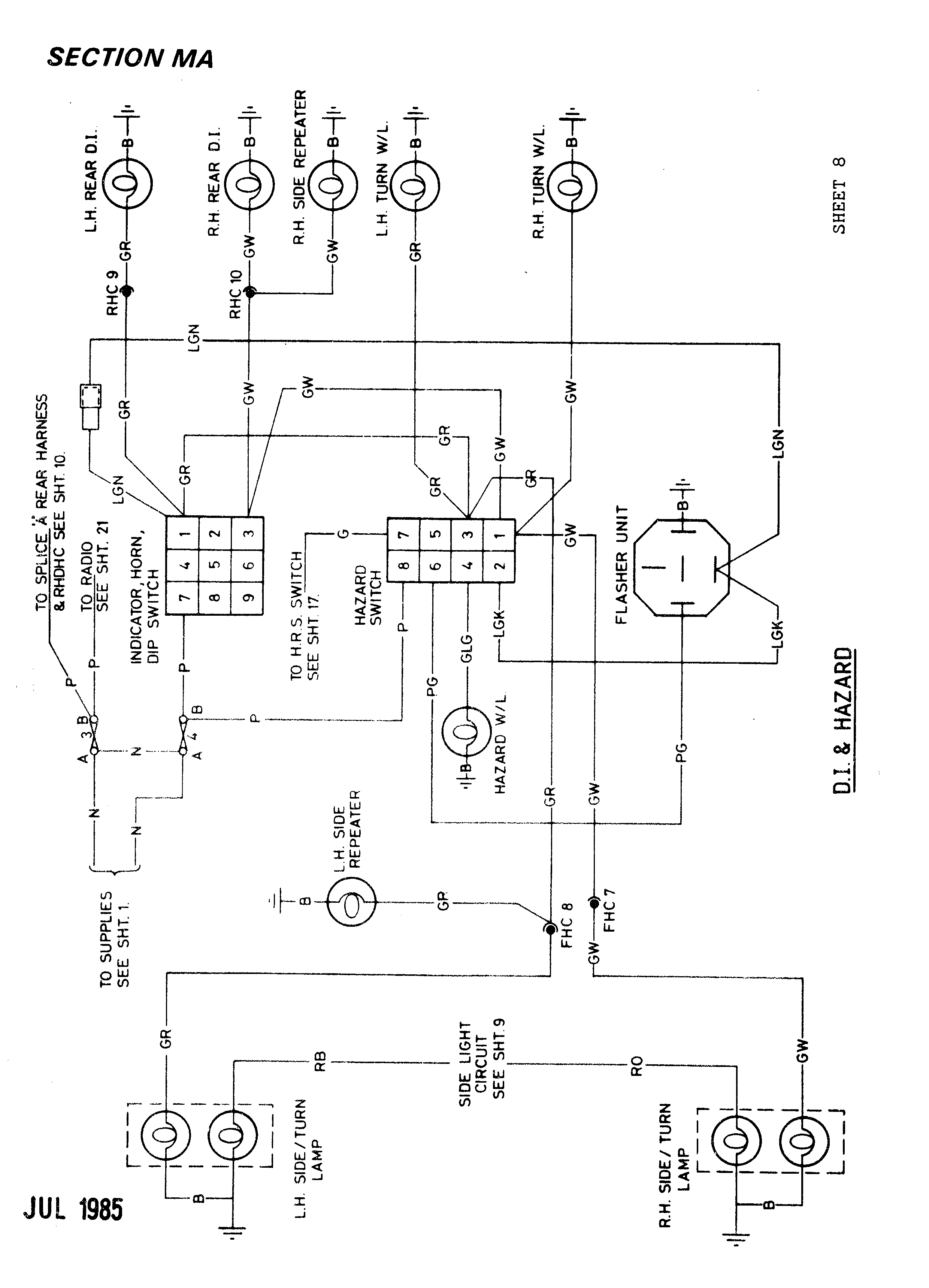 Lotus Excel Electrical Section  Ma