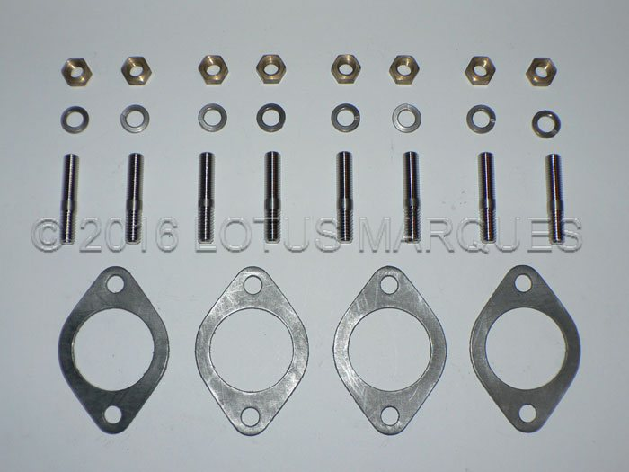 Lotus twin cam exhaust stud, nut, washer and gasket kit