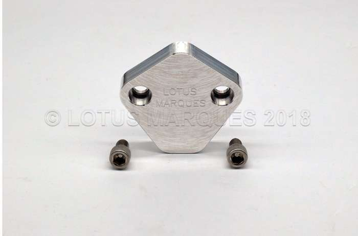 Lotus twin cam fuel pump blanking plate