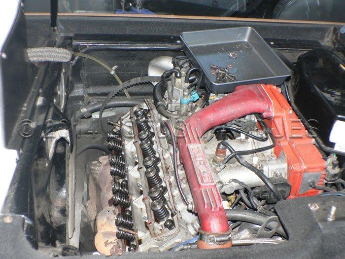 1987 Lotus Turbo Esprit HCi with damaged camshaft