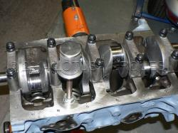 Custom oil pick-up and stainless steel strainer 120E cylinder block
