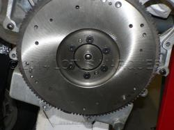 Trial fitment of flywheel