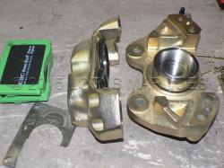 Brake caliper rebuilt with stainless steel pistons