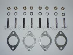 Lotus Twin Cam exhaust stud, gasket and fastener kit