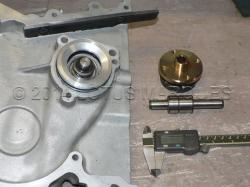 Lotus twin cam water pump seal installation