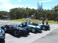 All lined up in the car park at the top of Mt. Baw Baw